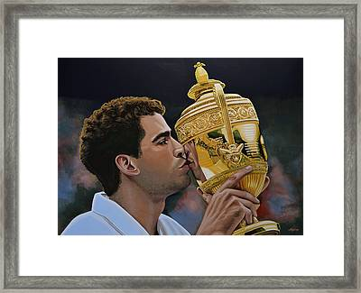 Pete Sampras Framed Print by Paul Meijering
