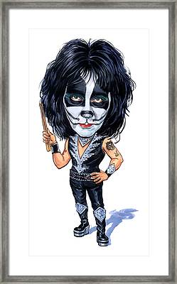 Peter Criss Framed Print by Art