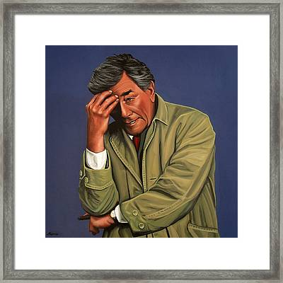 Peter Falk As Columbo Framed Print by Paul Meijering