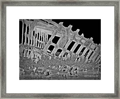 Peter Iredale In Reverse Bw 7 Framed Print by Chalet Roome-Rigdon