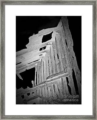 Peter Iredale Reverse Bw 6 Framed Print by Chalet Roome-Rigdon