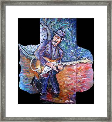 Peter Parcek Plays The Blues Framed Print by Jason Gluskin