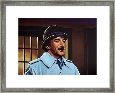 Peter Sellers As Inspector Clouseau  Framed Print by Paul Meijering