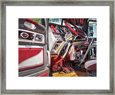 Peterbilt Interior Framed Print by Theresa Tahara