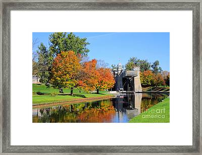 Peterborough Lift Lock Framed Print by Charline Xia