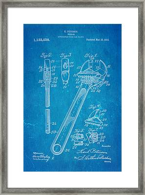 Peterson Wrench Patent Art 1915 Blueprint Framed Print by Ian Monk