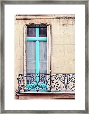 Petit - Parisian Balcony  Framed Print by Melanie Alexandra Price