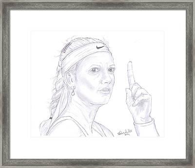 Petra Kvitova Framed Print by Steven White