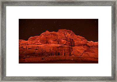 Petra Nights Framed Print by Stephen Stookey