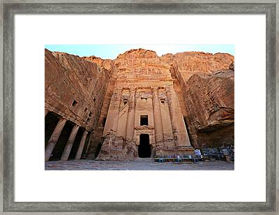 Petra Tomb Framed Print by Stephen Stookey
