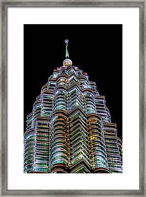 Petronas Tower Framed Print by Adrian Evans
