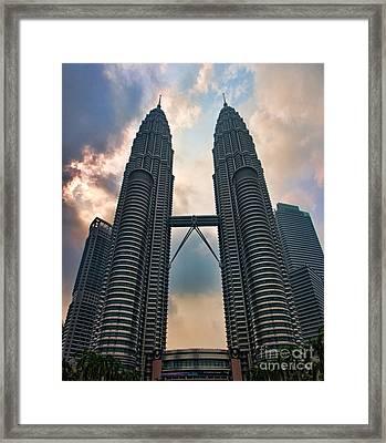 Petronas Twin Towers Framed Print by Joerg Lingnau