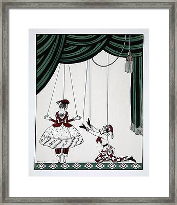 Petroushka Framed Print by Georges Barbier