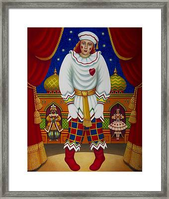 Petrushka, 2011 Oils & Tempera On Panel Framed Print by Frances Broomfield