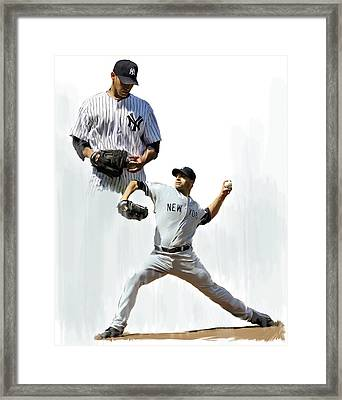 Pettitte  Andy Pettitte Framed Print by Iconic Images Art Gallery David Pucciarelli