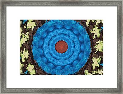 Petunias Inside Out Framed Print by Aliceann Carlton