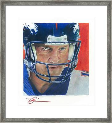Peyton Framed Print by Darren  Chilton