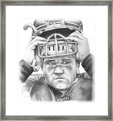 Peyton Hillis Framed Print by Mike Shaw