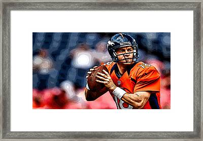 Peyton Manning Framed Print by Marvin Blaine