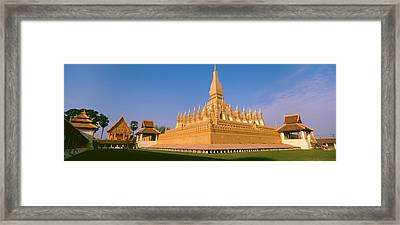 Pha That Luang Temple, Vientiane, Laos Framed Print by Panoramic Images