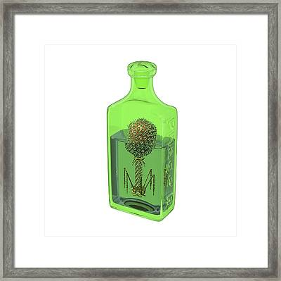 Phage Therapy Bottle Framed Print by Russell Kightley