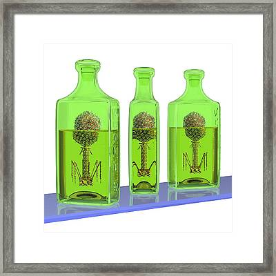 Phage Therapy Bottles Framed Print by Russell Kightley