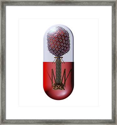 Phage Therapy Capsule Framed Print by Russell Kightley