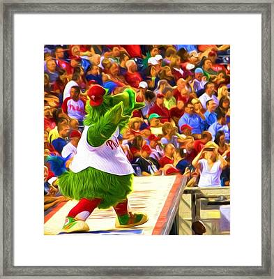 Phanatic In Action Framed Print by Alice Gipson