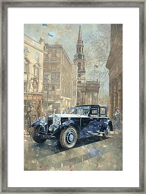 Phantom Near Trafalgar Square  Framed Print by Peter Miller