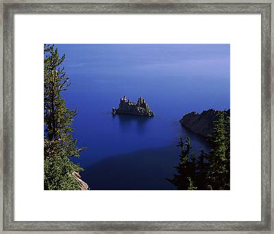 Phantom Ship Island Viewed From Sun Framed Print by Panoramic Images