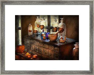 Pharmacist - Medicinal Equipment  Framed Print by Mike Savad