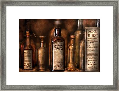 Pharmacist - Medicine For Asthma And Pain  Framed Print by Mike Savad