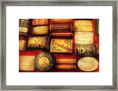 Pharmacist - The Druggist Framed Print by Mike Savad