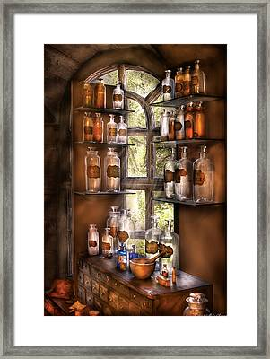 Pharmacist - Various Potions Framed Print by Mike Savad