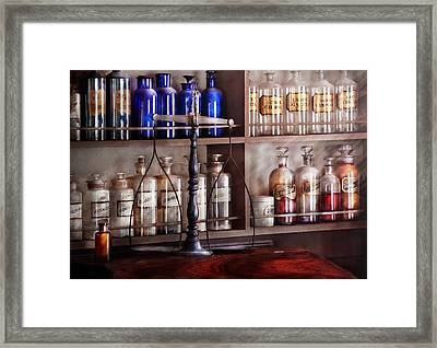 Pharmacy - Apothecarius  Framed Print by Mike Savad