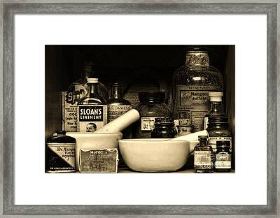 Pharmacy - Cod Liver Oil And More Framed Print by Paul Ward