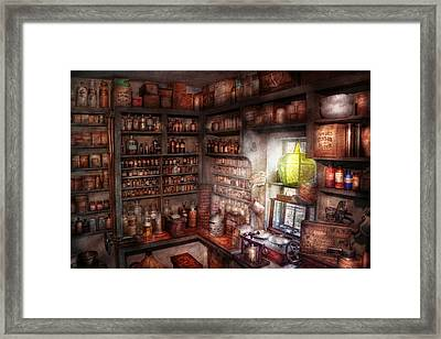 Pharmacy - Equipment - Merlin's Study Framed Print by Mike Savad