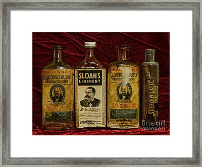 Pharmacy - Liniments For Sore Muscles Framed Print by Paul Ward