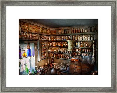 Pharmacy - Medicinal Chemistry Framed Print by Mike Savad