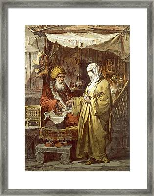 Pharmacy Or Drug Shop, 1865 Framed Print by Amadeo Preziosi