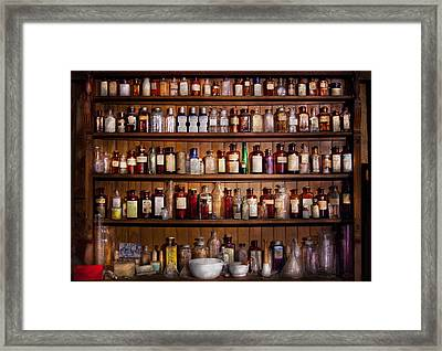 Pharmacy - Pharma-palooza  Framed Print by Mike Savad