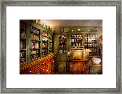 Pharmacy - Room - The Dispensary Framed Print by Mike Savad
