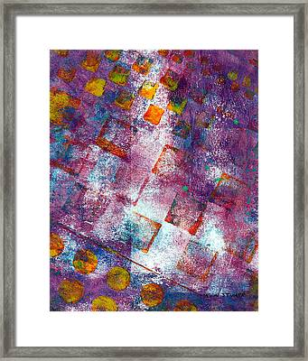 Phase Series - Picking Up The Pieces Framed Print by Moon Stumpp