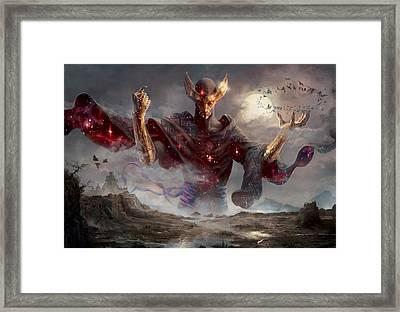 Phenax God Of Deception Framed Print by Ryan Barger