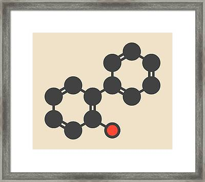 Phenylphenol Preservative Molecule Framed Print by Molekuul