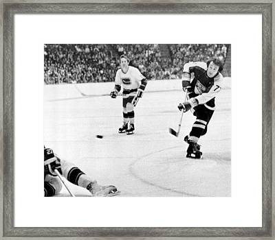 Phil Esposito In Action Framed Print by Gianfranco Weiss