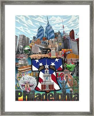 Philadelphia Framed Print by Brett Sauce