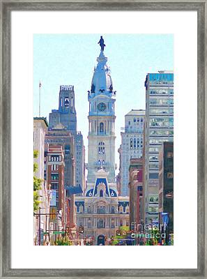 Philadelphia City Hall 20130703 Framed Print by Wingsdomain Art and Photography