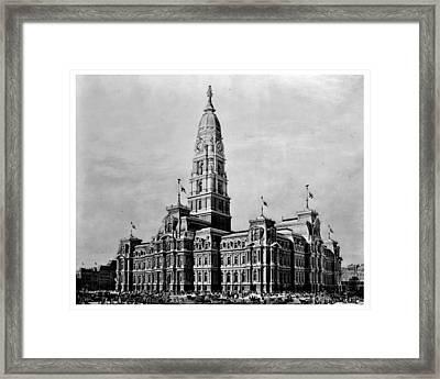 Philadelphia City Hall Framed Print by Benjamin Yeager