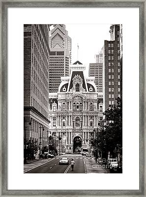 Philadelphia City Hall Framed Print by Olivier Le Queinec